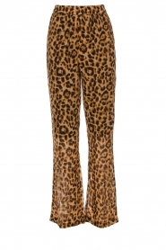 Essentiel Antwerp |  Wide leg pants with leopard print Remorse | animal print  | Picture 1