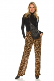 Essentiel Antwerp |  Wide leg pants with leopard print Remorse | animal print  | Picture 2