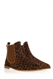 Maluo |  Leather ankle boots Cato | animal print  | Picture 4