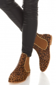 Maluo |  Leather ankle boots Cato | animal print  | Picture 3