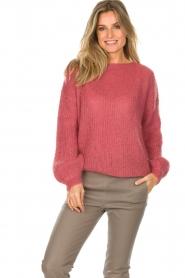 Aaiko |  Gebreide trui Minella | pink  | Picture 2