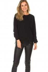 Aaiko | Sweatshirt met kanten detail Nadia | zwart  | Afbeelding 2