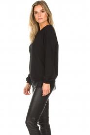 Aaiko | Sweatshirt met kanten detail Nadia | zwart  | Afbeelding 5