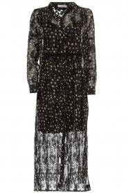 Aaiko |  Dress with velvet details Florencia | black  | Picture 1