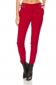 Aaiko |  Trousers Tayas | red  | Picture 3
