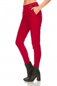 Aaiko |  Trousers Tayas | red  | Picture 4