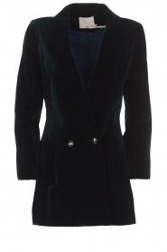 Aaiko |  Velvet blazer Valancia | blue  | Picture 1