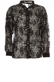 Aaiko |  Blouse with floral print Fedelia | black  | Picture 1