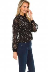 Aaiko |  Blouse with floral print Fedelia | black  | Picture 4