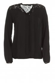 Aaiko |  Top with lace details Jura Pes | black  | Picture 1