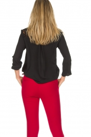 Aaiko |  Top with lace details Jura Pes | black  | Picture 7