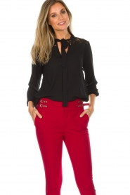 Aaiko |  Top with lace details Jura Pes | black  | Picture 2