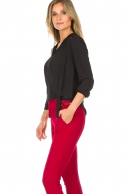 Aaiko |  Top with lace details Jura Pes | black  | Picture 5