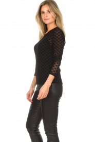 Aaiko |  See-through top with seashell print Syenne | black  | Picture 4