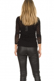 Aaiko |  See-through top with seashell print Syenne | black  | Picture 5