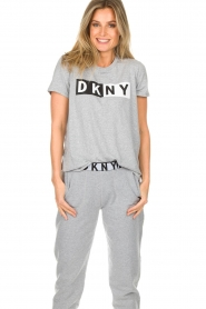 DKNY Sport |  Sports top with logo print Lawa | grey  | Picture 2