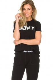 DKNY Sport |  Sports top with logo print Lawa | black  | Picture 2