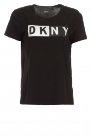 DKNY Sport |  Sports top with logo print Lawa | black  | Picture 1