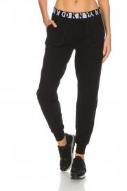 DKNY Sport | Sweatpants met logo Stevie | zwart  | Afbeelding 3