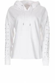 DKNY Sport | Sweater with lace-up sleeves Lotte | white  | Picture 1