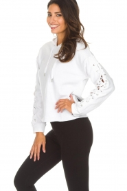 DKNY Sport | Sweater with lace-up sleeves Lotte | white  | Picture 4