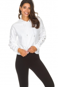 DKNY Sport | Sweater with lace-up sleeves Lotte | white  | Picture 2