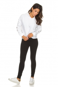 DKNY Sport | Sweater with lace-up sleeves Lotte | white  | Picture 3