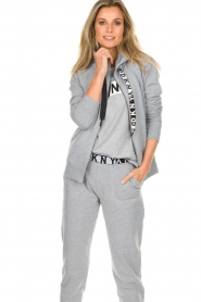 DKNY Sport |  Sports cardigan with logo on the back Kyra | grey  | Picture 2