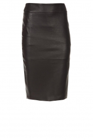 Dante 6 |  Leather skirt Giselle croco | black  | Picture 1