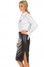 Dante 6 |  Leather skirt Giselle croco | black  | Picture 4