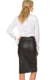 Dante 6 |  Leather skirt Giselle croco | black  | Picture 5