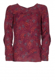 Dante 6 |  Top with floral print Dakota | bordeaux  | Picture 1