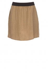 Knit-ted |  Skirt with golden dots Coconut | brown  | Picture 1