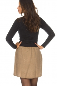Knit-ted |  Skirt with golden dots Coconut | brown  | Picture 5