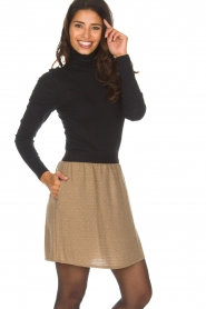 Knit-ted |  Skirt with golden dots Coconut | brown  | Picture 2