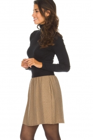 Knit-ted |  Skirt with golden dots Coconut | brown  | Picture 4