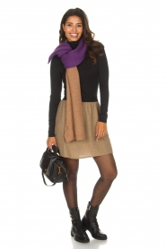 Knit-ted |  Skirt with golden dots Coconut | brown  | Picture 3