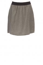 Knit-ted |  Skirt with golden dots Alise | grey  | Picture 1