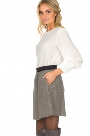 Knit-ted |  Skirt with golden dots Alise | grey  | Picture 4