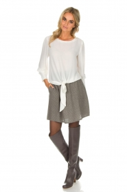 Knit-ted |  Skirt with golden dots Alise | grey  | Picture 3