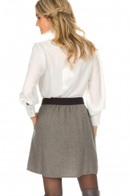 Knit-ted |  Skirt with golden dots Alise | grey  | Picture 5