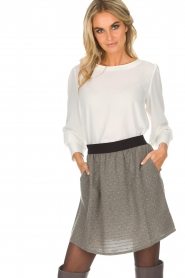 Knit-ted |  Skirt with golden dots Alise | grey  | Picture 2