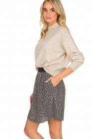 Knit-ted |  Skirt Aletta | blue  | Picture 4