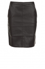 Knit-ted |  Faux leather skirt Aukje | black  | Picture 1