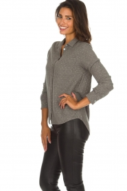 Knit-ted | Blouse Alicia | grijs  | Afbeelding 4