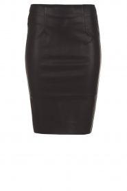 Knit-ted |  Faux leather skirt Astrid | black  | Picture 1