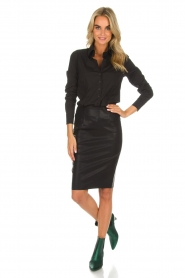 Knit-ted |  Faux leather skirt Astrid | black  | Picture 3
