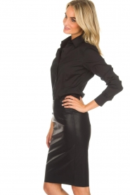 Knit-ted |  Faux leather skirt Astrid | black  | Picture 4
