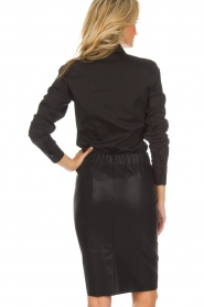 Knit-ted |  Faux leather skirt Astrid | black  | Picture 5