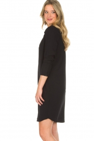 Knit-ted |  Blouse dress Amani | black  | Picture 4